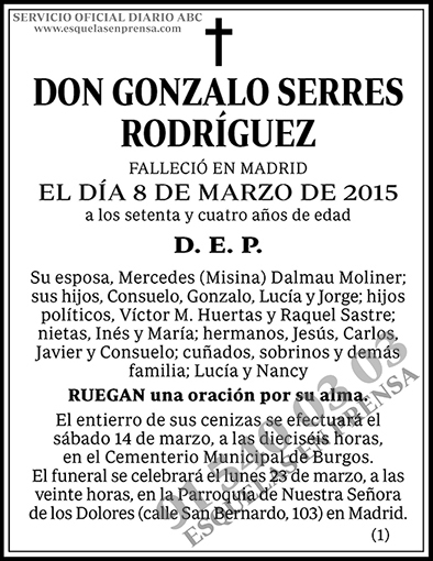 Gonzalo Serres Rodríguez